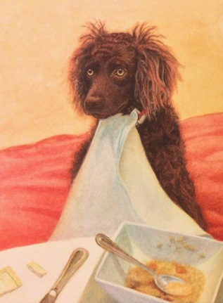 Boykin Spaniel Painting, LBD painting, swamp poodle, commission a pet portrait