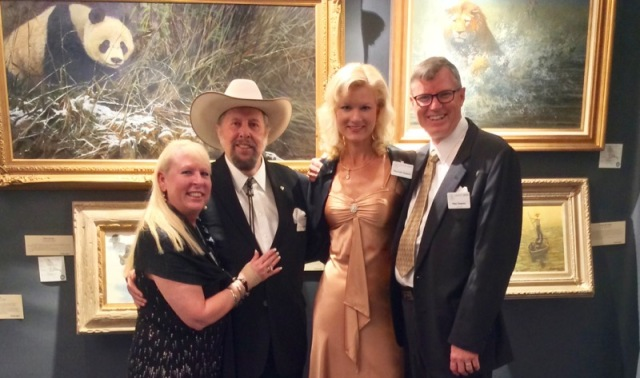Wes and Rachelle siegrist with John & Suzie Seerey-Lester at Southeastern Wildlife Exposition in Charleston, SC