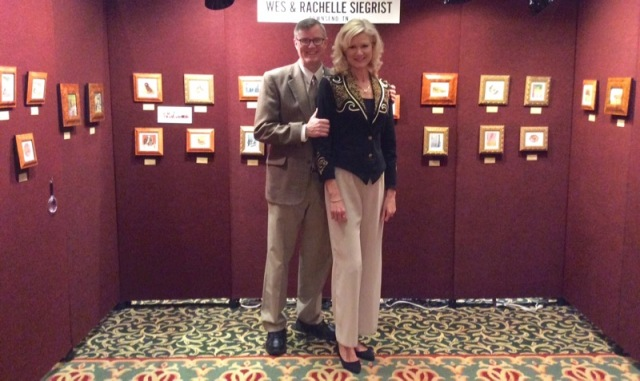 miniature paintings, wes and rachelle siegrist at NatureWorks Art show