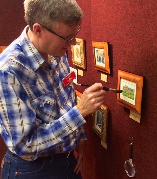 wes siegrist miniature paintings NatureWorks art show