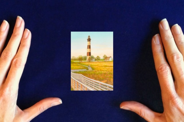 Bodie island lighthouse painting