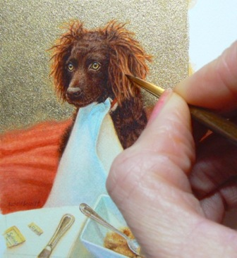 Boykin Spaniel painting, commission a dog painting, dog paintings by rachelle siegrist