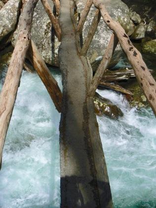 foot bridge on porterst creek trail