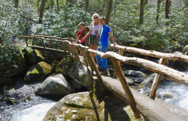 rachelle siegirst on foot bridge