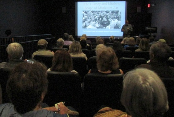 wes siegrist history of miniature art presentation at TexArt