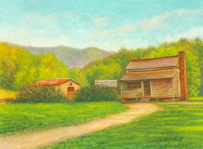 Cades Cove painting by Rachelle Siegrist