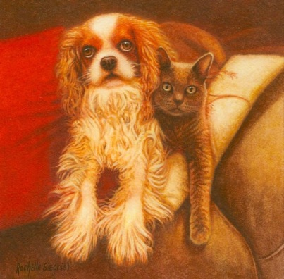 King Charles Cavalier painting by rachelle siegrist