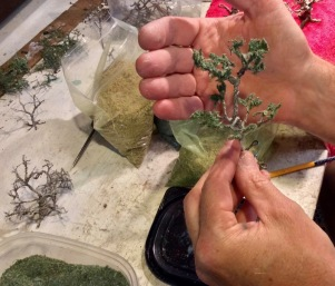 making wire trees for model railroads and train sets