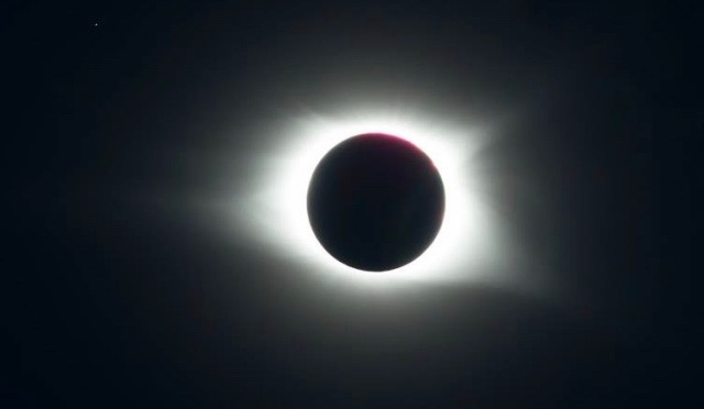 photo of sun during totality
