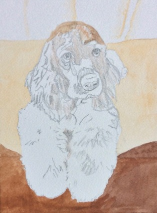 dog painting by Rachelle Siegrist2
