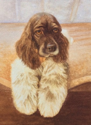 dog painting by Rachelle Siegrist6