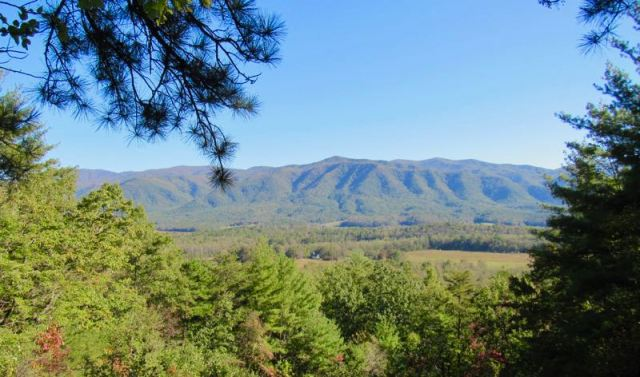 cades cove from rich mountain road