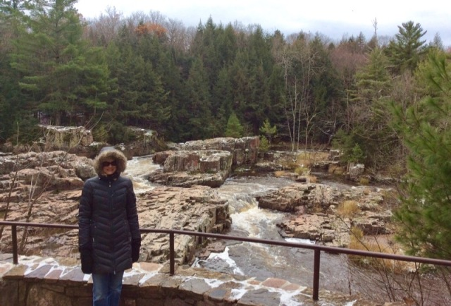 rachelle siegrist visiting the dells of the eau claire