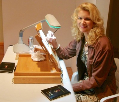Rachelle siegrist painting miniatures