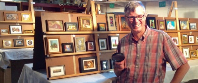 wes siegrist judging miniatue painting show MASF