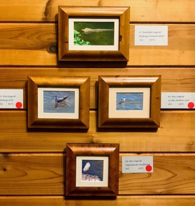 Wes and Rachelle Siegrist Miniature paintings at MacArthur Beach Show