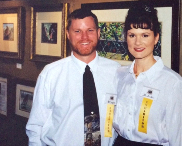 Wes and Rachelle Siegrist at an art show 1991