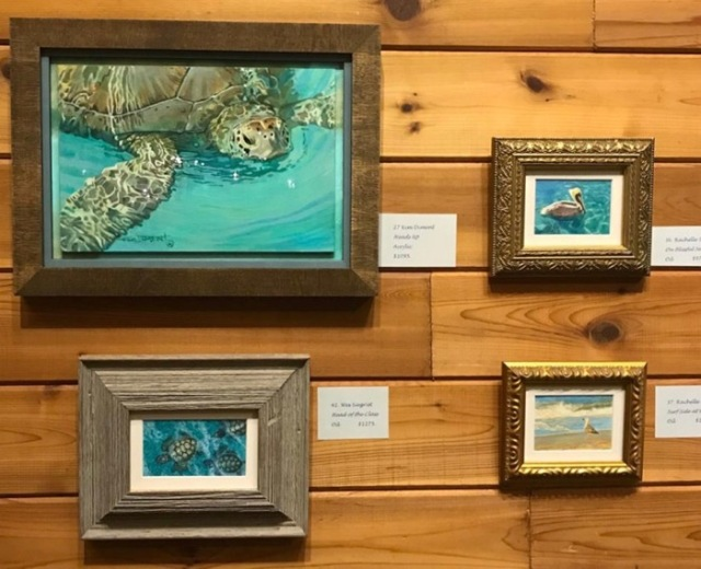 Wes & Rachelle Siegrist Miniature paintings at MacArthur Beach Show