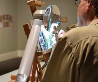 wes siegrist painting Exquisite miniature exhibition at customs house museum