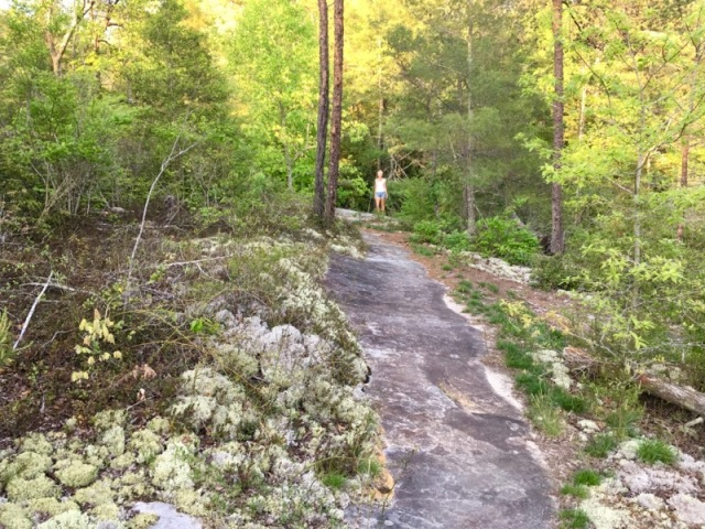 rachelle siegrist hiking a trail