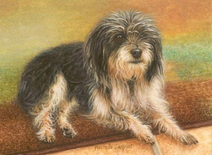 dog painting Lucy Mason by rachelle siegrist