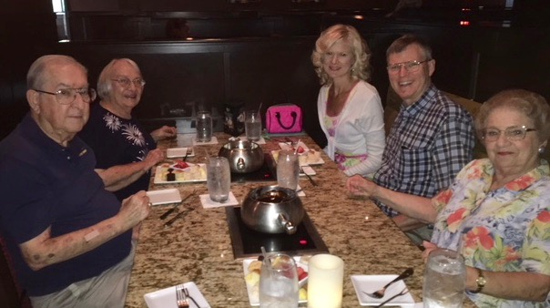 rachelle siegrist birthday at melting pot