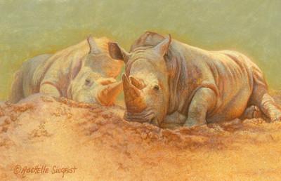 Rhino_painting_Basking-Behemoths_by_Rachelle_Siegrist