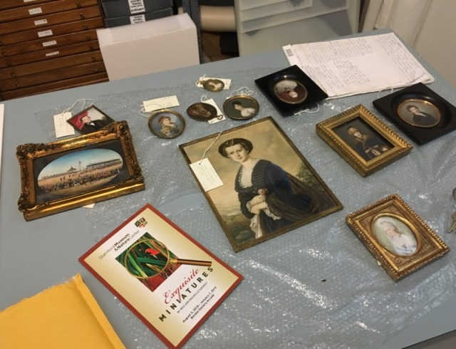 miniature portrait paintings at stamford museum