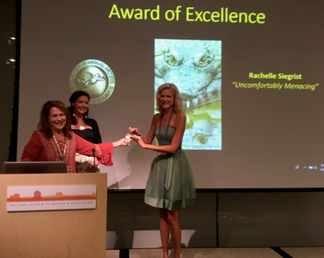 Rachelle siegrist with SAA award of excellence