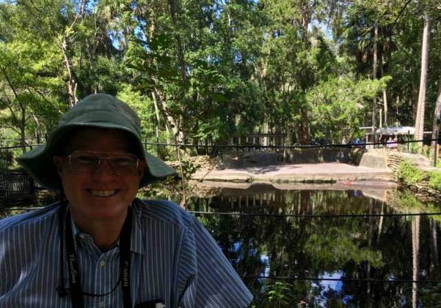 wes siegrist with hippo at homasassa springs