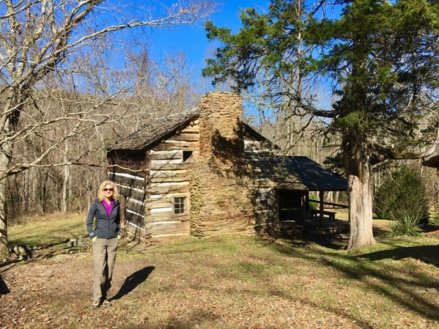 rachelle siegrist at the walker sisters cabin