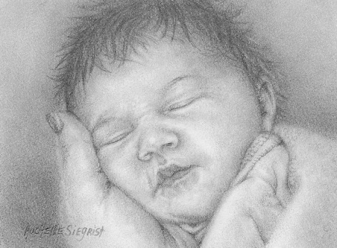 drawing of a baby by Rachelle Siegrist
