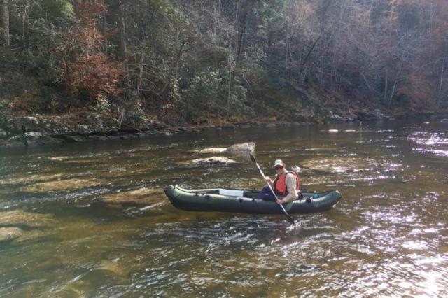 wes siegrist in fishing kayak