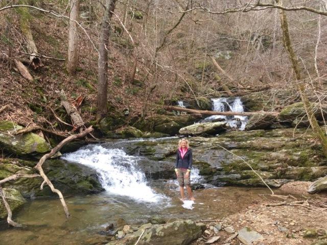 rachelle siegrist by waterfall