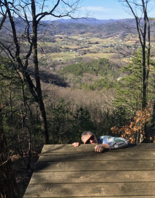 wes siegrist hiking in the smokies