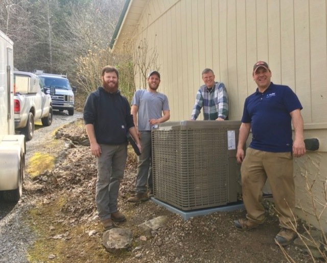 Underhile heating and air