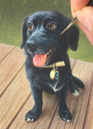 dog painting commission
