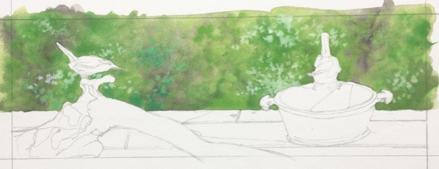 carolina wren painting in progress2