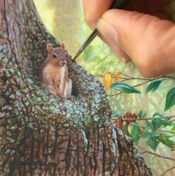 cute squirrel painting