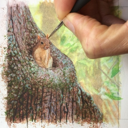 cute squirrel painting