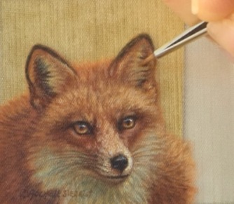 red fox painting by rachelle siegrist