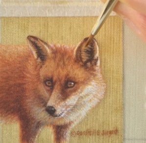 red fox painting by rachelle siegrist2