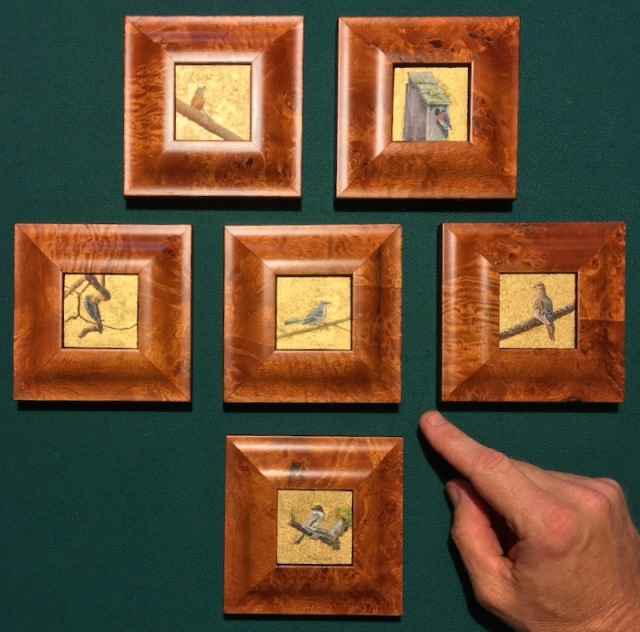 miniature songbird paintings wes siegirst