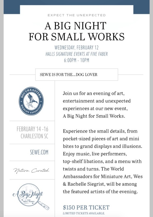 A big night for small works SEWE 2020