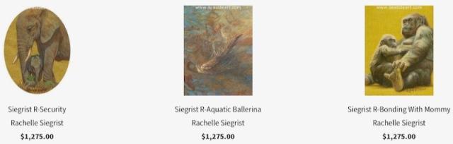 international miniature art show seaside art gallery rachelle siegrist paintings