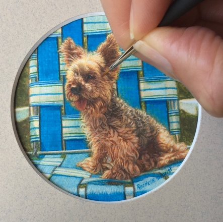 yorkie dog painting by Rachelle Siegrist