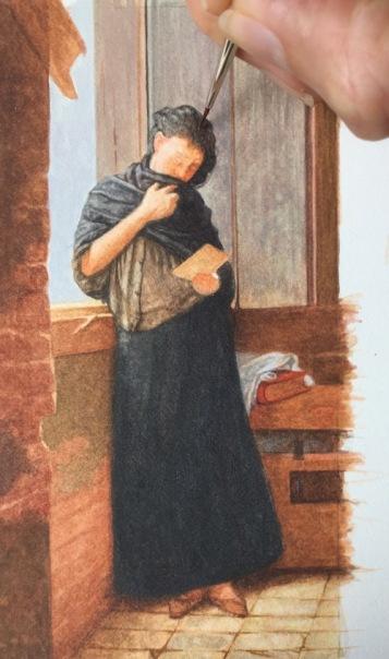 Painting Almeida Júnior's Saudade in Miniature
