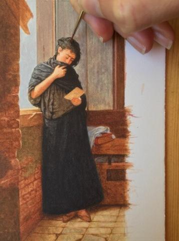 Painting Almeida Júnior's Saudade in Miniature3