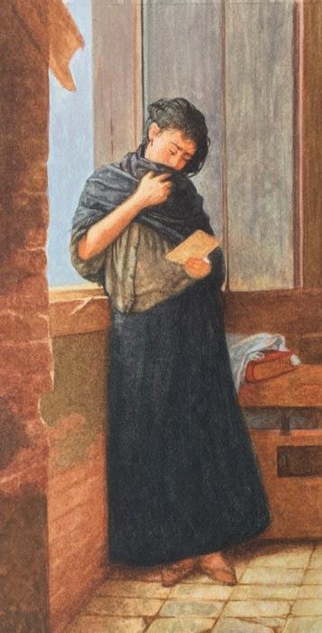 Painting Almeida Júnior's Saudade in Miniature4