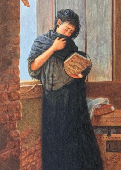 miniature painting of Almeida Junior's Saudade5